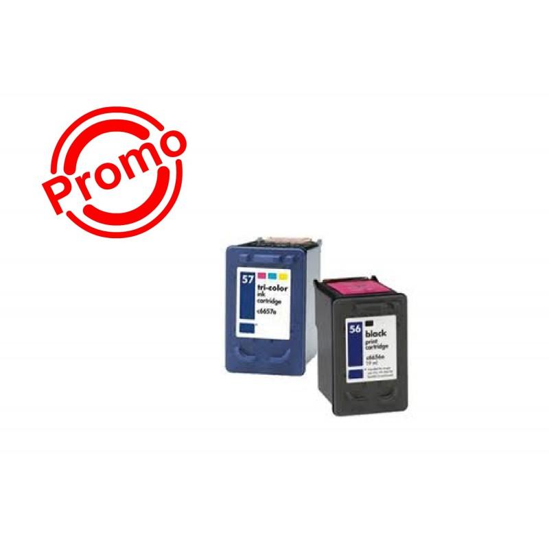 SET 2 BUC. X Cartus HP 56A + HP 57A ( C6656A +  C6657A) SMART INK